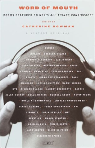 Word of Mouth Poems Featured on NPR's All Things Considered  2003 edition cover