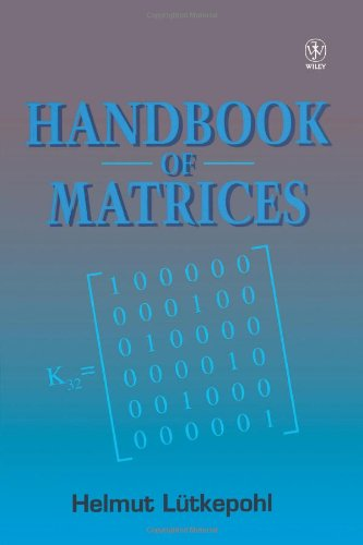 Handbook of Matrices   1996 9780471970156 Front Cover