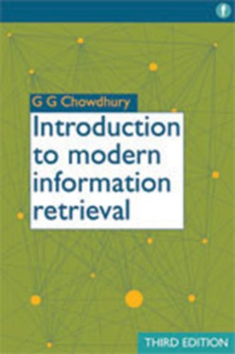 Introduction to Modern Information Retrieval  3rd 2010 edition cover