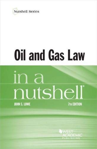 OIL+GAS LAW IN A NUTSHELL               N/A 9781640201156 Front Cover