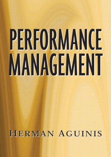 Performance Management   2007 9780131866157 Front Cover