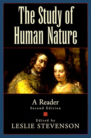 Study of Human Nature A Reader 2nd 1999 (Revised) edition cover