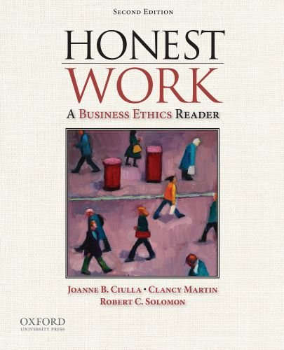 Honest Work A Business Ethics Reader 2nd 2010 9780195383157 Front Cover