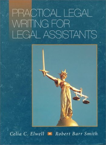 Practical Legal Writing for Legal Assistants   1996 edition cover