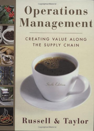 Operations Management Creating Value along the Supply Chain 6th 2009 edition cover