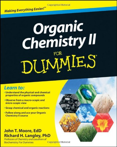 Organic Chemistry II for Dummies   2010 edition cover