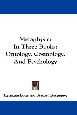 Metaphysic In Three Books N/A 9780548219157 Front Cover