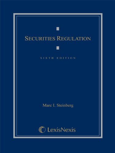 SECURITIES REGULATION          N/A edition cover