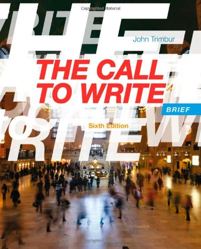 Call to Write, Brief  6th 2014 edition cover