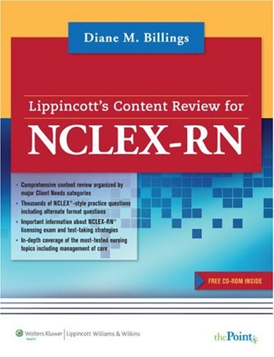 Lippincott's Content Review for NCLEX-RN�   2009 edition cover