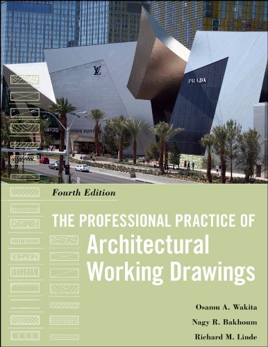Professional Practice of Architectural Working Drawings  4th 2012 edition cover