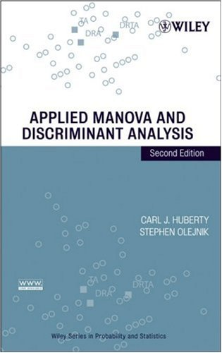 Applied MANOVA and Discriminant Analysis  2nd 2006 (Revised) edition cover