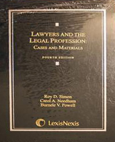 Lawyers and the Legal Profession  4th 2008 edition cover