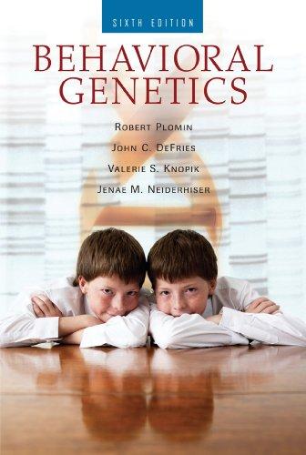 Behavioral Genetics:   2012 edition cover