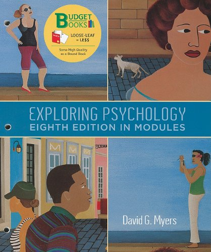 Exploring Psychology in Modules  8th 2011 edition cover