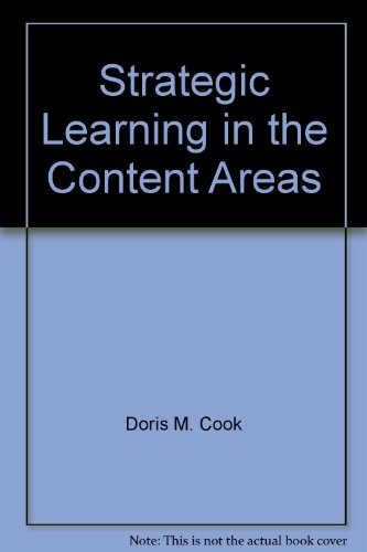Strategic Learning in the Content Areas 1st 9781573370158 Front Cover