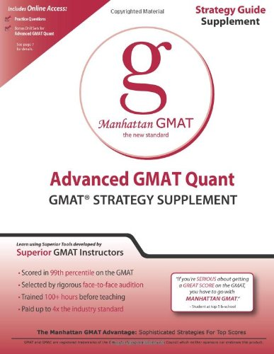 Advanced GMAT Quant  5th (Revised) 9781935707158 Front Cover
