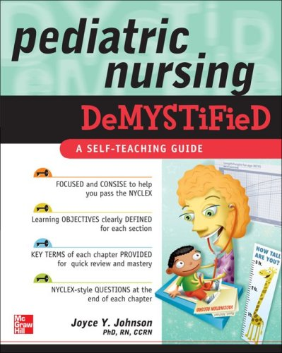 Pediatric Nursing Demystified   2010 edition cover