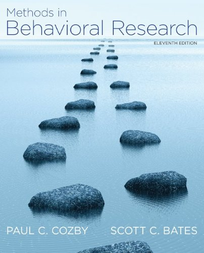Methods in Behavioral Research  11th 2012 9780078035159 Front Cover