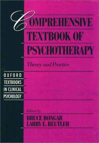 Comprehensive Textbook of Psychotherapy Theory and Practice  1995 9780195082159 Front Cover