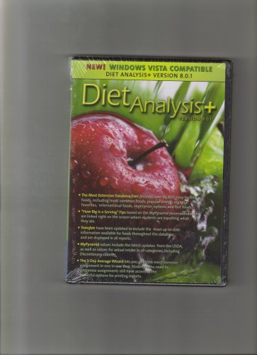 Diet Analysis Plus 8. 0. 1 Win/Mac Cd-Rom Updated  8th 2008 9780495557159 Front Cover