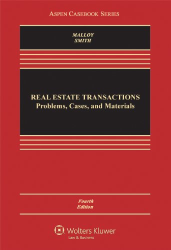 Real Estate Transactions Problems, Cases, and Materials 4th 2013 (Revised) edition cover