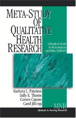 Meta-Study of Qualitative Health Research A Practical Guide to Meta-Analysis and Meta-Synthesis  2001 edition cover