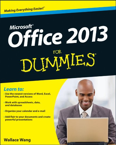 Office 2013 for Dummies   2013 edition cover