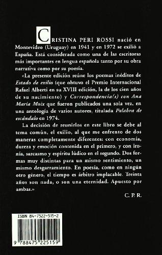 Estado de Exilio  2003 edition cover