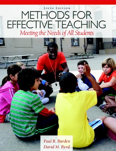 Methods for Effective Teaching Meeting the Needs of All Students 6th 2013 (Revised) edition cover