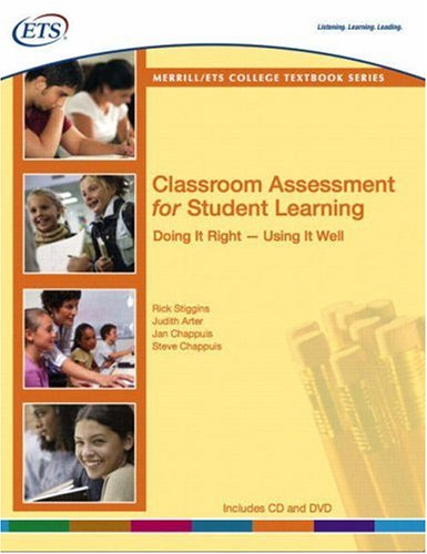 Classroom Assessment for Student Learning Doing It Right--Using It Well  2008 edition cover