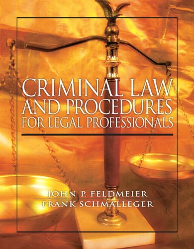 Criminal Law and Procedure for Legal Professionals   2012 (Revised) edition cover