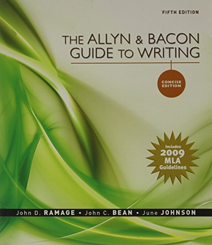 ALLYN+BACON GDE.TO..,CONC.-MLA N/A 9780205750160 Front Cover