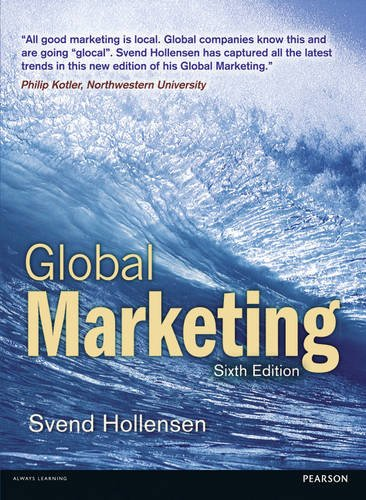 Global Marketing  6th 2014 edition cover