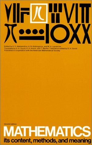Mathematics Its Content, Methods and Meaning  1999 edition cover