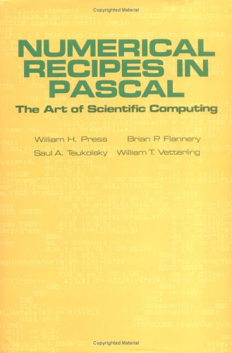 Numerical Recipes in Pascal The Art of Scientific Computing  1989 (Revised) edition cover