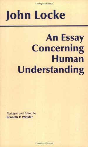Essay Concerning Human Understanding   1996 (Abridged) edition cover