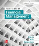 Foundations of Financial Management:   2016 9781259277160 Front Cover