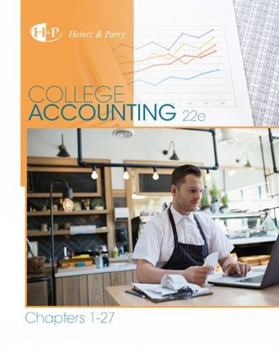 College Accounting, Chapters 1-27:   2016 edition cover