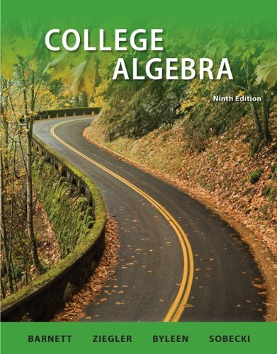 College Algebra  9th 2011 9780077350161 Front Cover