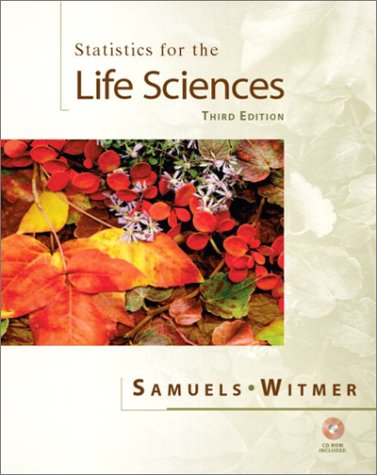 Statistics for the Life Sciences  3rd 2003 (Revised) edition cover