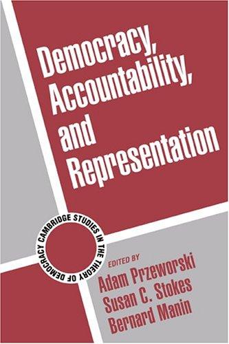 Democracy, Accountability, and Representation   1999 edition cover