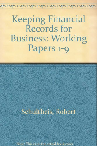 Keeping Financial Records for Business, Chapters 1-9 - Working Papers  8th 1995 (Workbook) 9780538633161 Front Cover