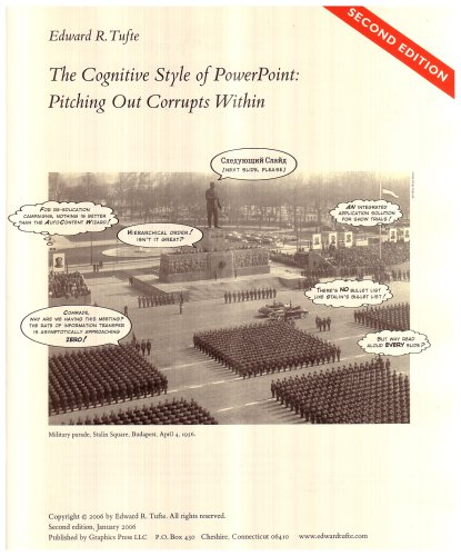 Cognitive Style of Powerpoint : Pitching out Corrupts Within 2nd 2006 edition cover