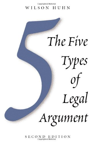Five Types of Legal Argument, Second Edition  2nd 2008 edition cover