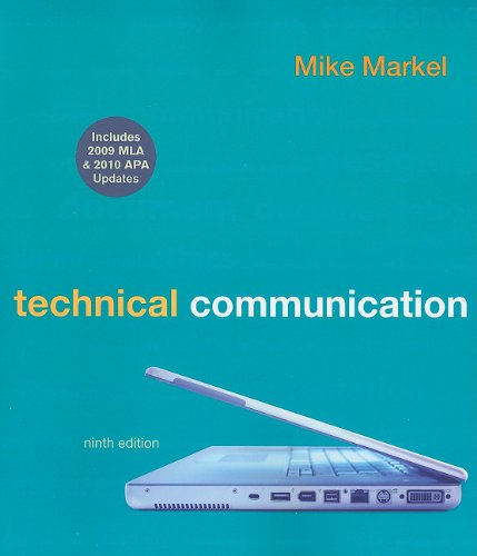 Technical Communication with 2009 MLA and 2010 APA Updates  9th edition cover