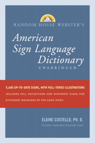 Random House Webster's American Sign Language Dictionary   2008 edition cover