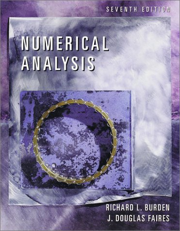 Numerical Analysis  7th 2001 edition cover