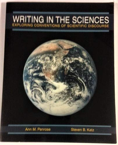 Writing in the Sciences Exploration and Conventions of Science N/A edition cover