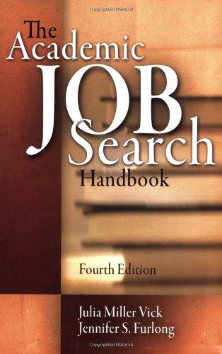 Academic Job Search Handbook  4th 2008 edition cover